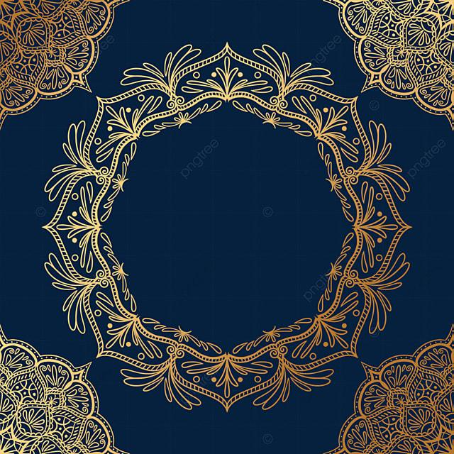 mandala golden luxury creative border