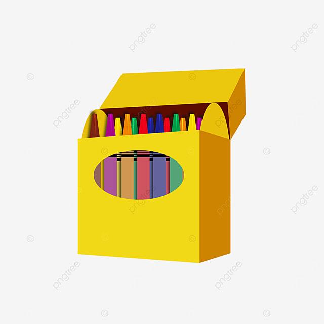 multicolor crayon box clip art
