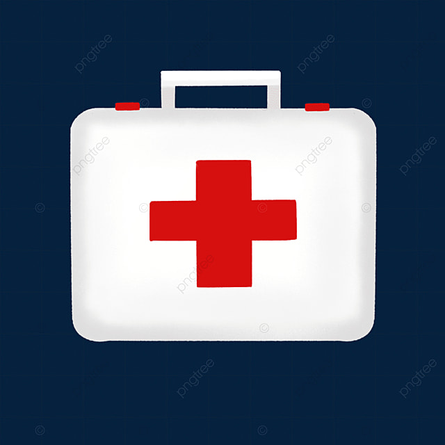off white first aid kit clipart