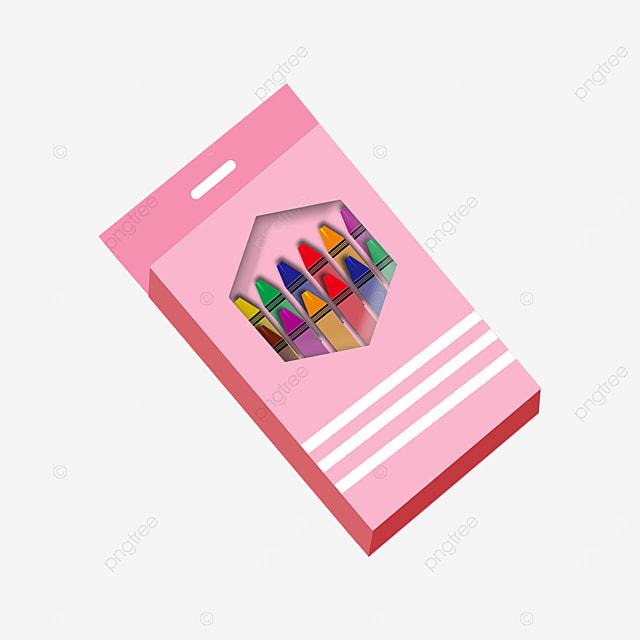 pink crayon box clip art