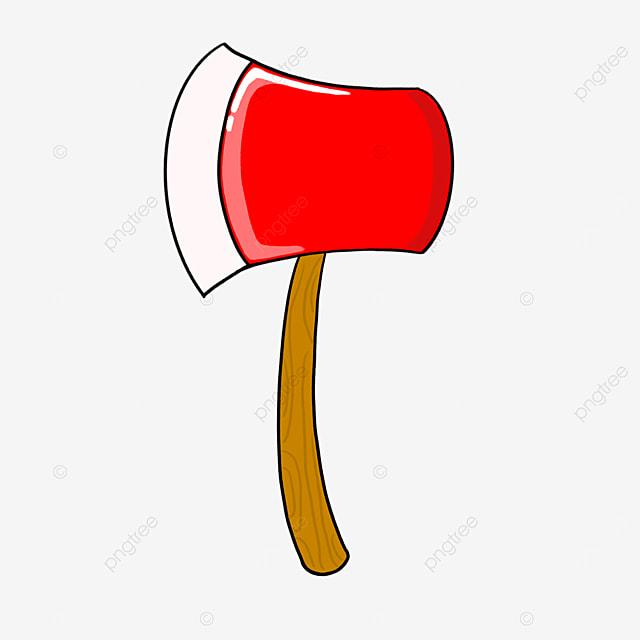 positive red axe clip art