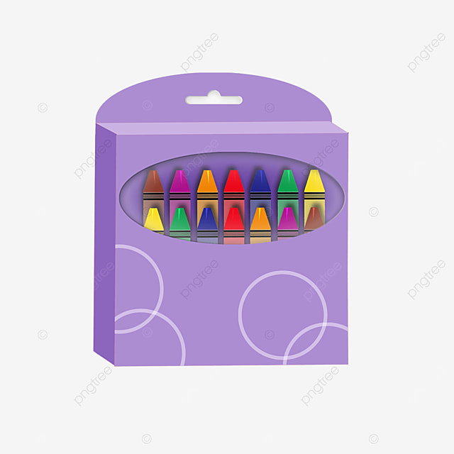 purple crayon box clip art