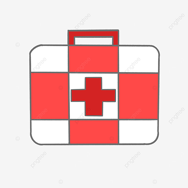 red and white checkered first aid box clip art