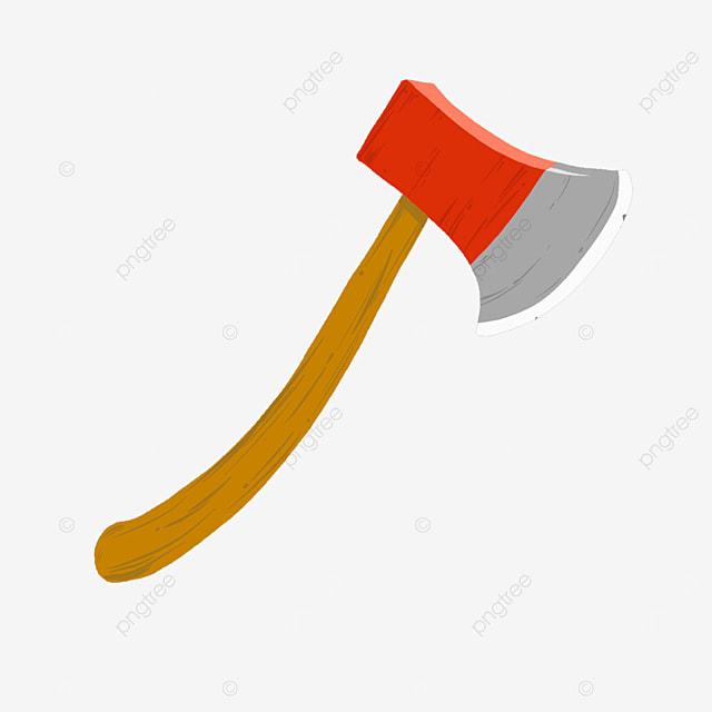 red grey axe clip art