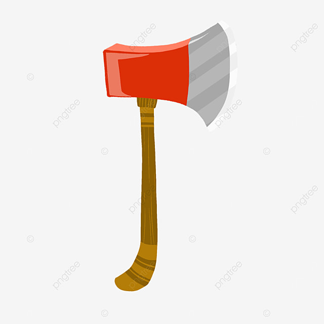 red realistic axe clip art