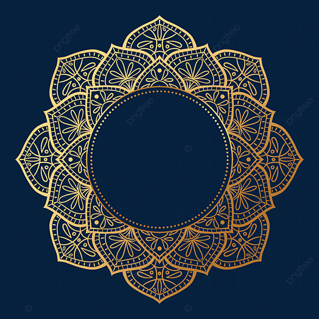round golden luxury mandala border