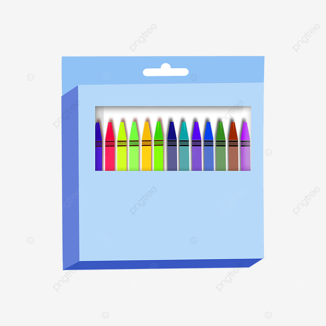 sky blue crayon box clip art