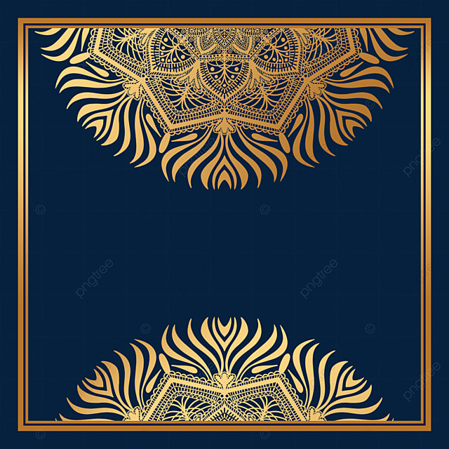square golden luxury mandala decorative border
