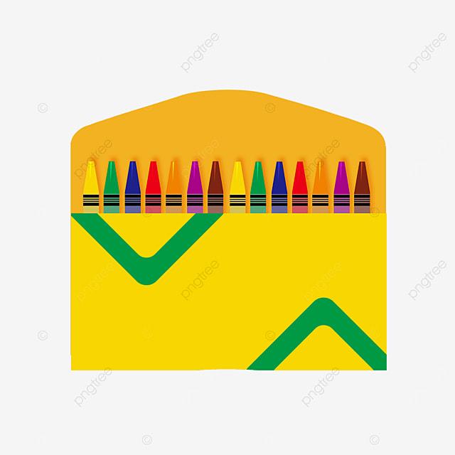 triangle pattern crayon box clip art