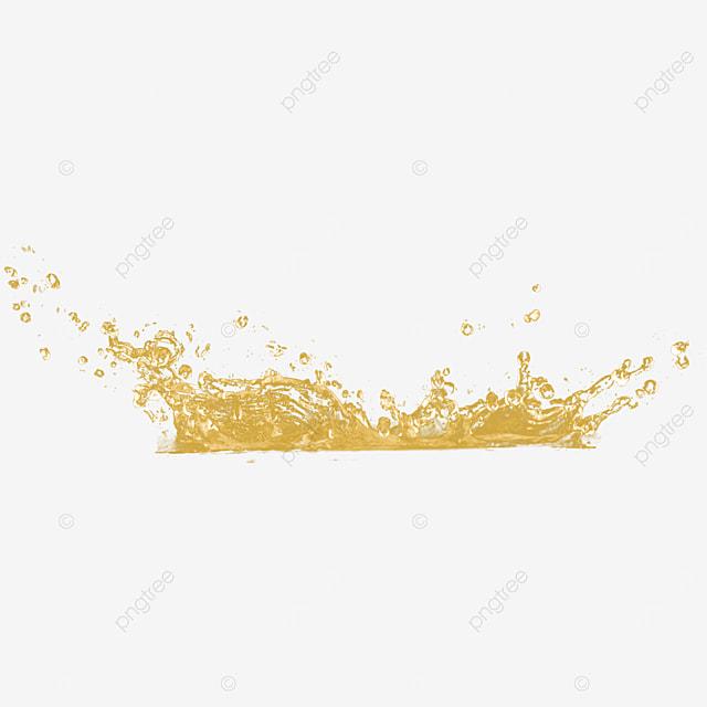 3d honey liquid splash