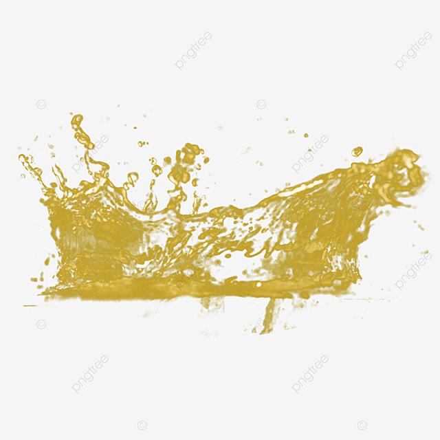 3d liquid honey golden splash