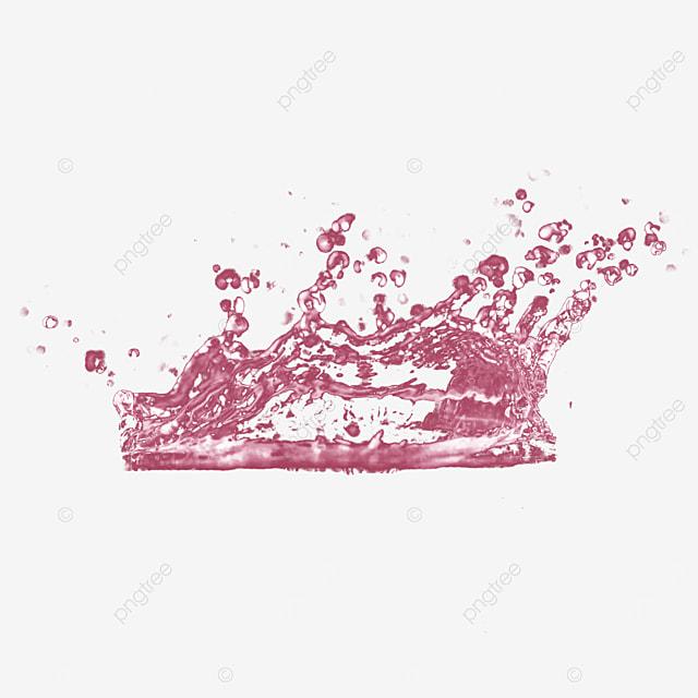 3d liquid splash pink water drop