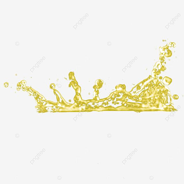 3d liquid water splash golden beautiful
