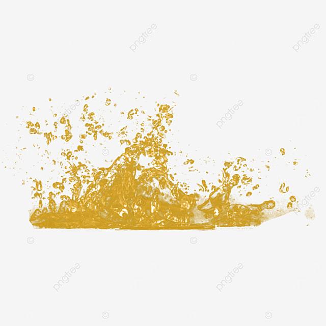 3d yellow liquid water splash honey