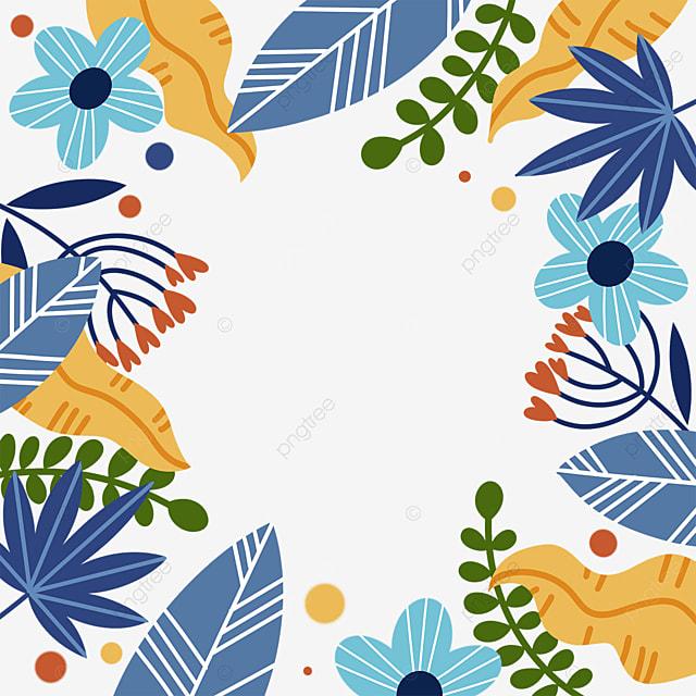abstract plant memphis border
