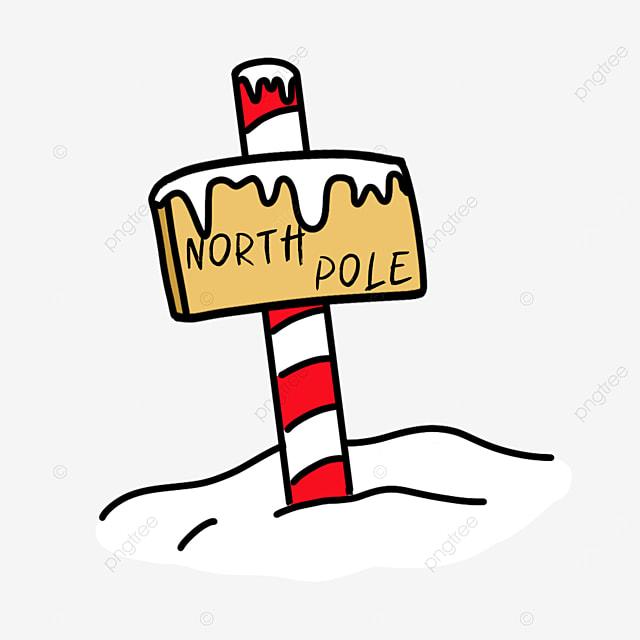 arctic clipart wooden sign