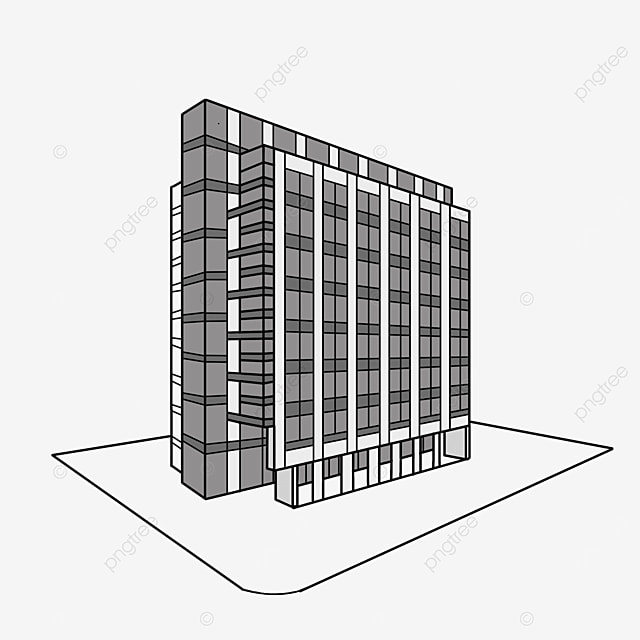 Black And White Office Tall Buildings Clipart Hotel Building Office Building Tall Building Png Transparent Clipart Image And Psd File For Free Download