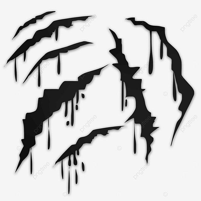 black animal claw scar horror