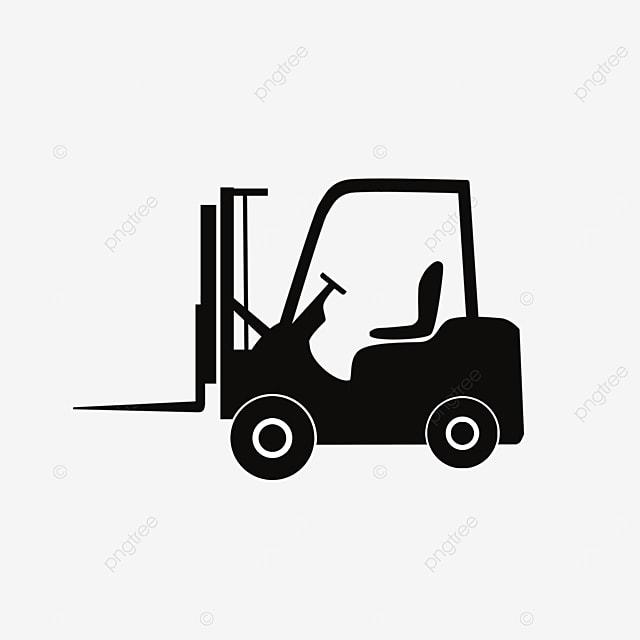 black forklift clipart icon