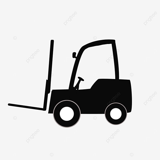black forklift clipart tags