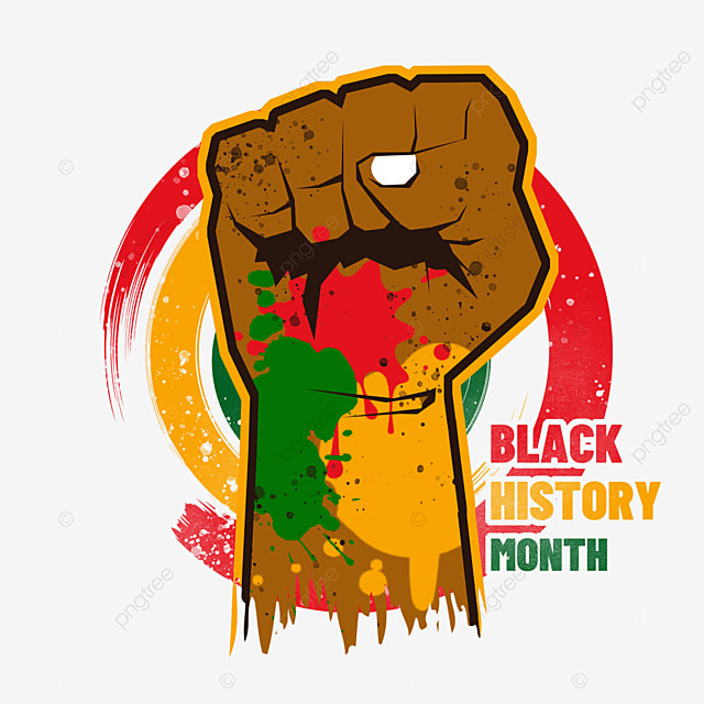 black history month colored fist