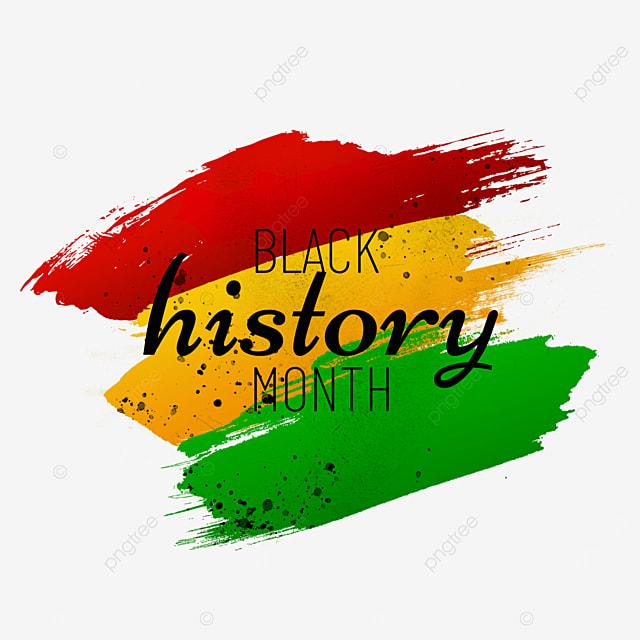 black history month gradient brush