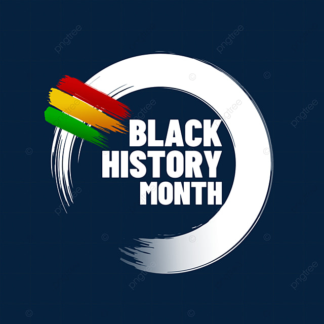 black history month ink border