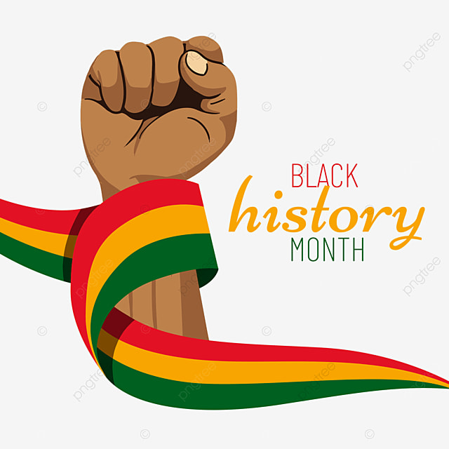 black history month memorial ribbon