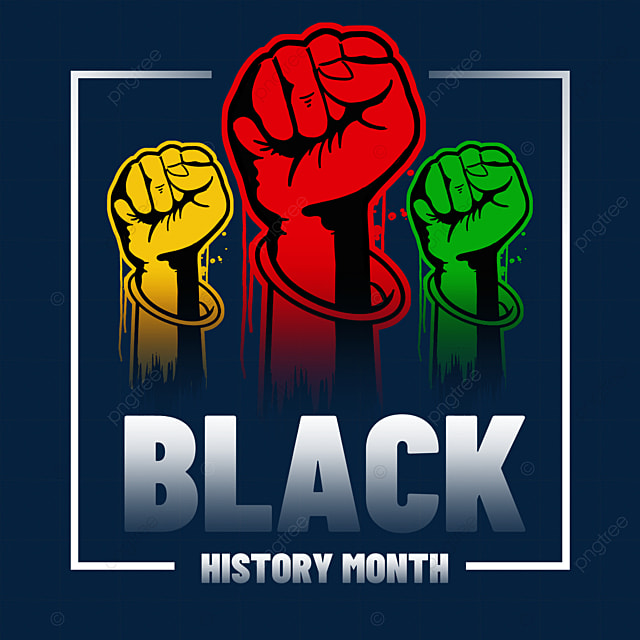 black history month textured fist