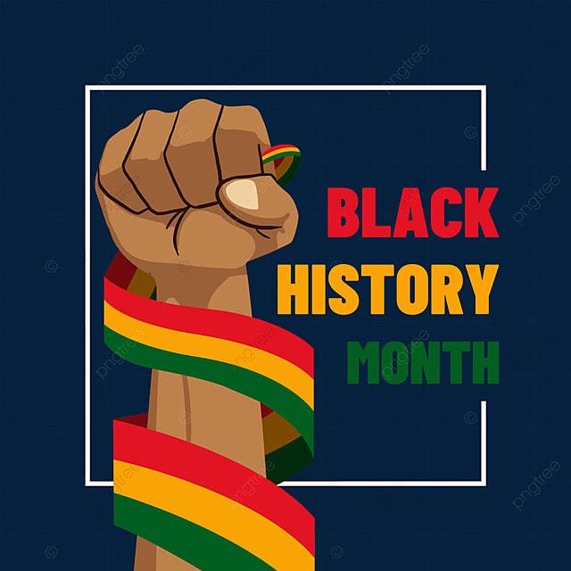 black history month twine ribbon fist