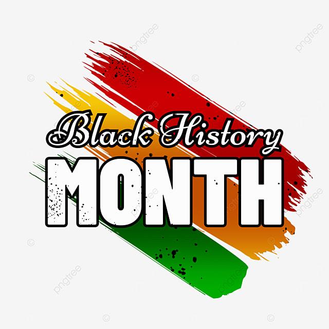 black history month writing brush