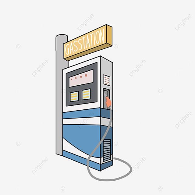 blue fuel station gas station clip art