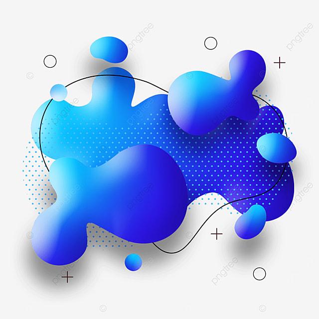 blue gradient abstract memphis border