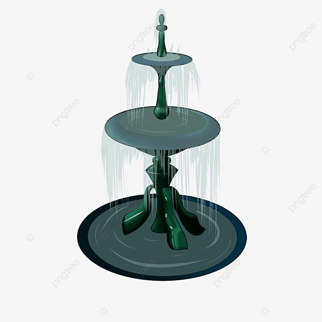 bronze fountain clip art