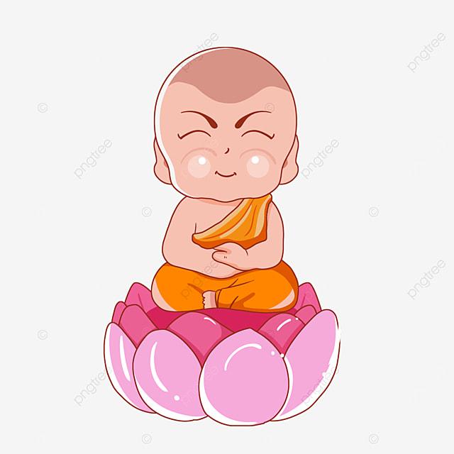 buddhas birthday vesak cartoon drawing line spiritual figure