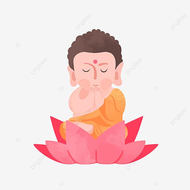 buddhas birthday vesak festival flat style illustration