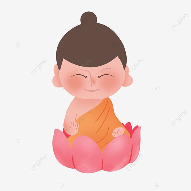 buddhas birthday with closed eyes sitting in lotus on vesak day