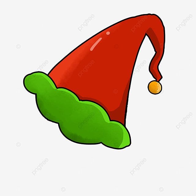 cartoon elf with long hat tail clipart