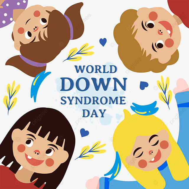 cartoon world down syndrome day advertisement