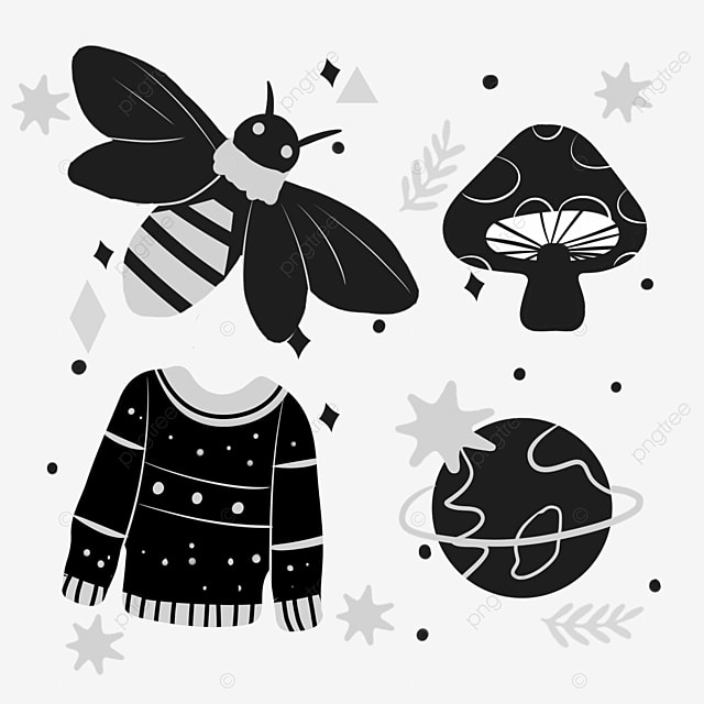 colorless linear draft bee design