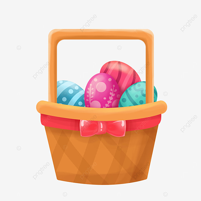concise easter basket clipart
