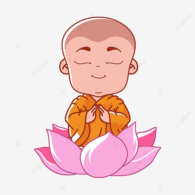 cute characters on buddhas birthday vesak day