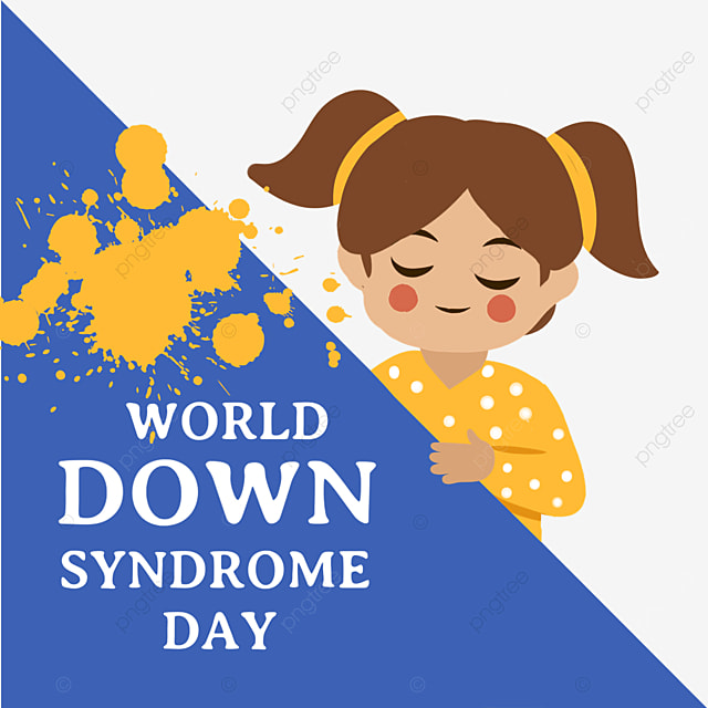 cute children on world down syndrome day