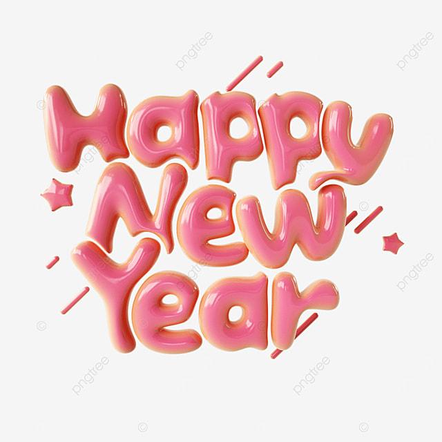 cute happy new year font