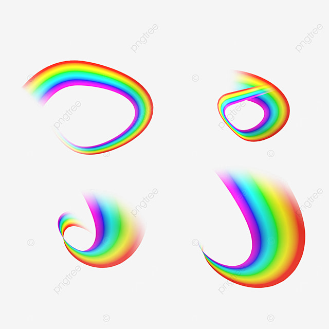 distorted abstract rainbow light effect