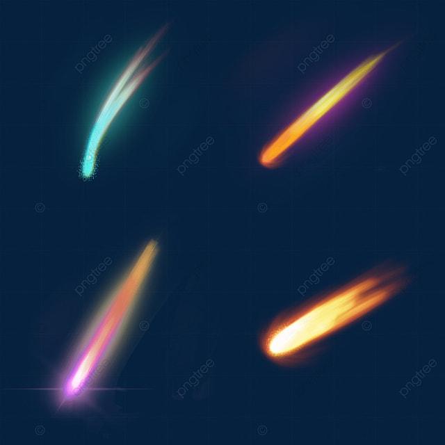 falling meteor light effect