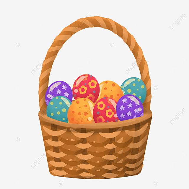 festive easter basket clipart