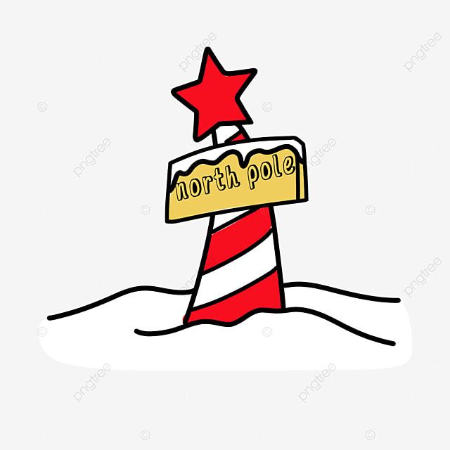 five star north pole clip art