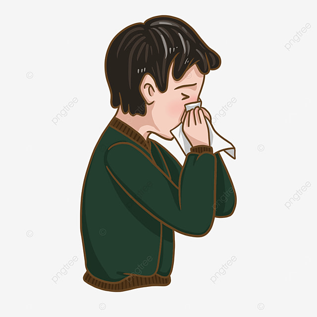 flu clip art sneezing