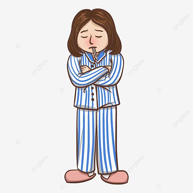 flu clipart patient wearing slippers
